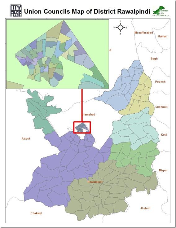 Rawalpindi UCs Pakistan GIS